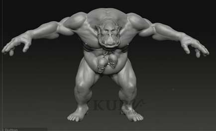 Orc Series: Advanced Detailing with ZBrush 3.5 - Final